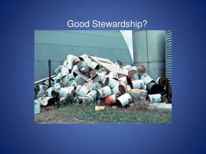 Good Stewardship?