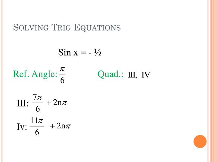 Solving Trig Equations