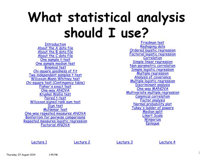 what are statistical analysis