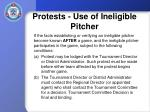 protests use of ineligible pitcher1