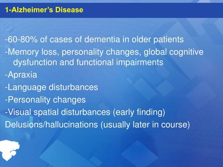 1-Alzheimer's Disease