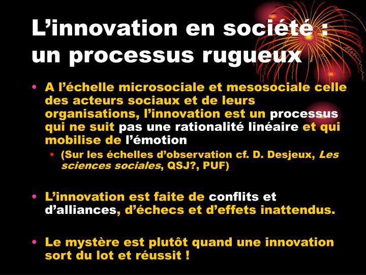 L'innovation en société :