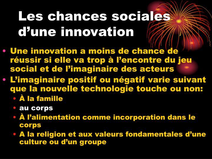 Les chances sociales d'une innovation
