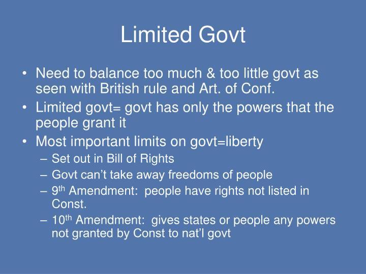 Limited Govt