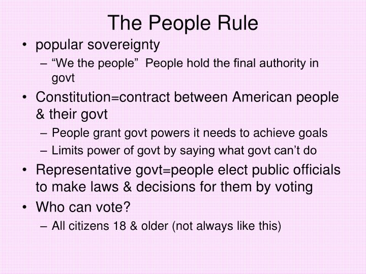 The People Rule