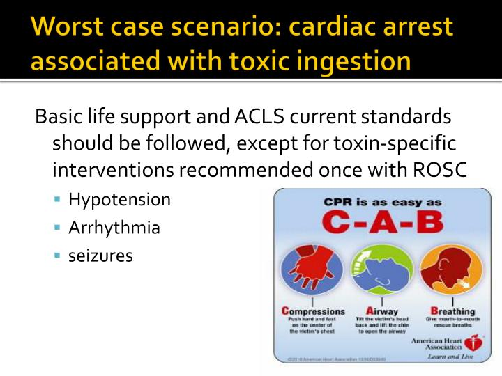Worst case scenario: cardiac arrest associated with toxic ingestion