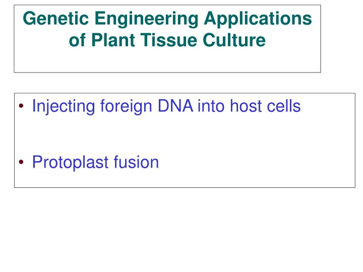 Injecting foreign DNA into host cells