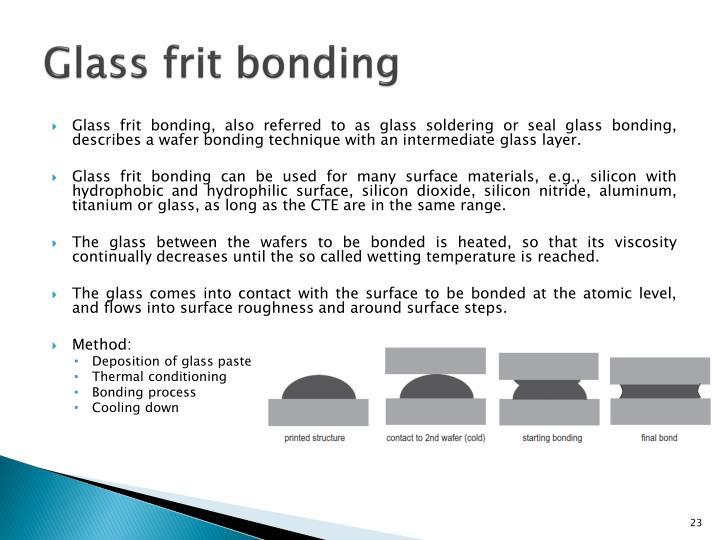 Glass frit bonding