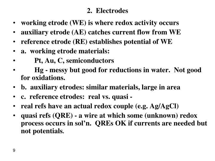 2.  Electrodes