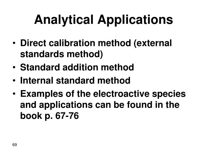 Analytical Applications