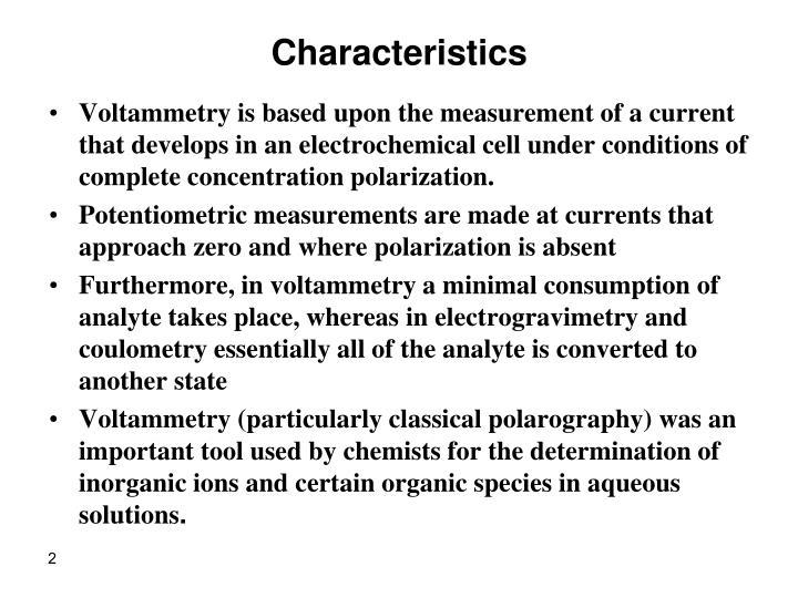 Characteristics