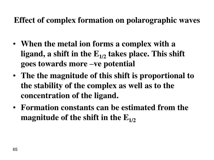 Effect of complex formation on polarographic waves