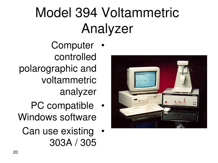 Model 394 Voltammetric Analyzer