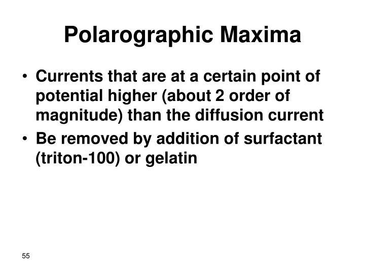 Polarographic Maxima