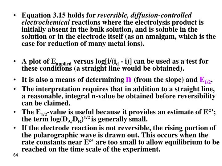 Equation 3.15 holds for