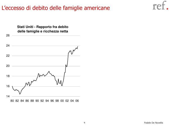 L'eccesso di debito delle famiglie americane