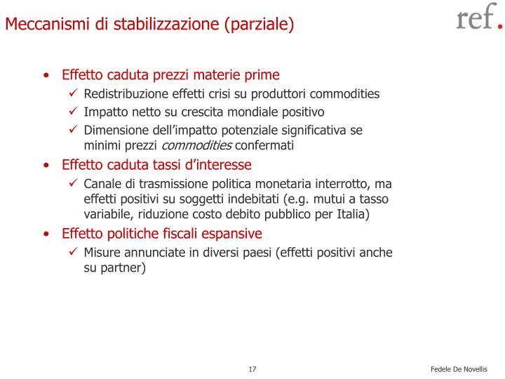 Meccanismi di stabilizzazione (parziale)