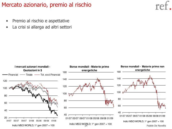 Mercato azionario, premio al rischio