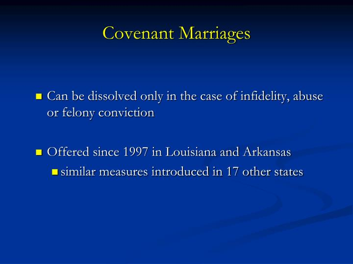 Covenant Marriages