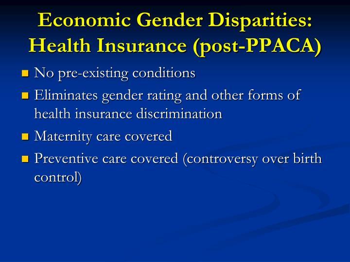 Economic Gender Disparities: