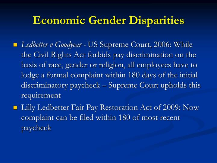 Economic Gender Disparities