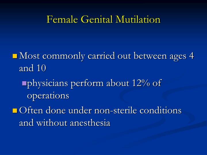 Female Genital Mutilation