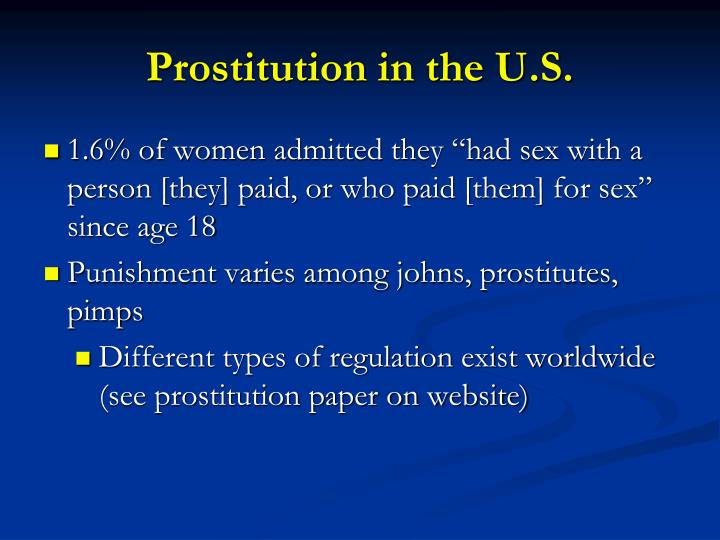 Prostitution in the U.S.