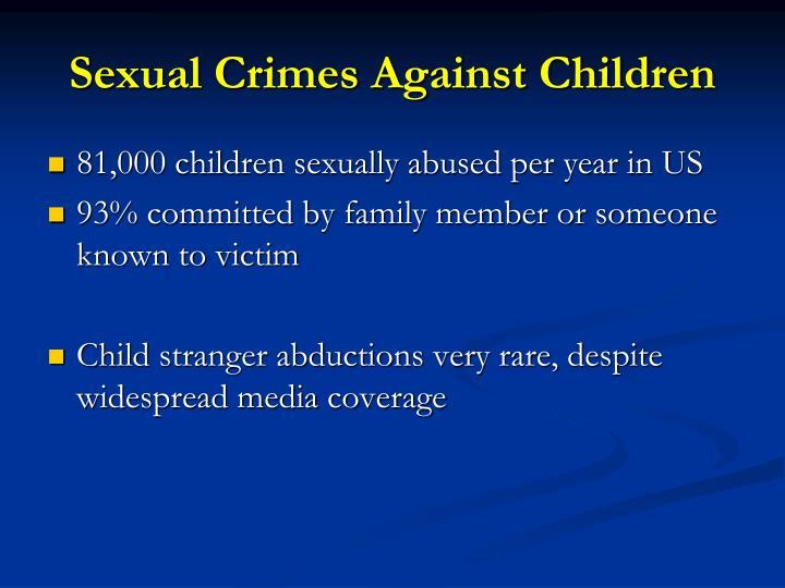 Sexual Crimes Against Children