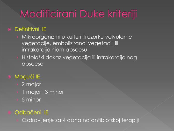 Modificirani Duke kriteriji