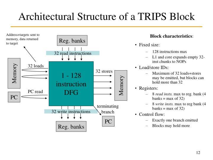 Architectural Structure of a TRIPS Block