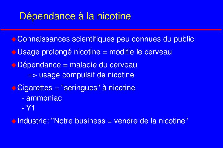 Dépendance à la nicotine