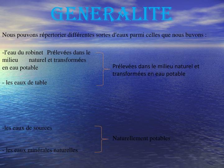 GENERALITE