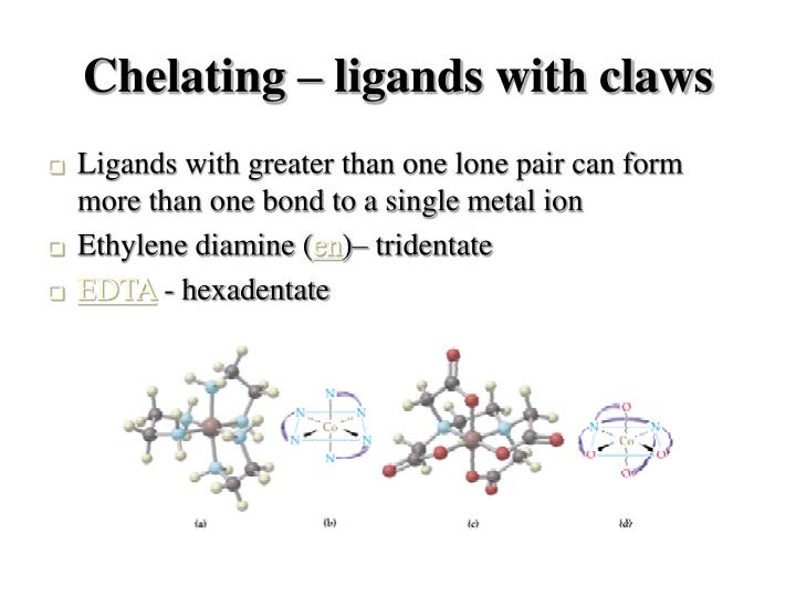 Chelating – ligands with claws