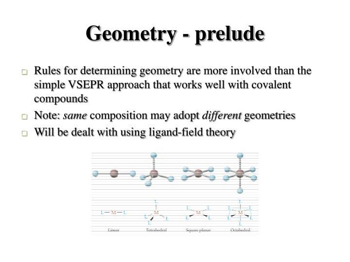 Geometry - prelude