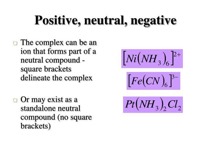 Positive, neutral, negative