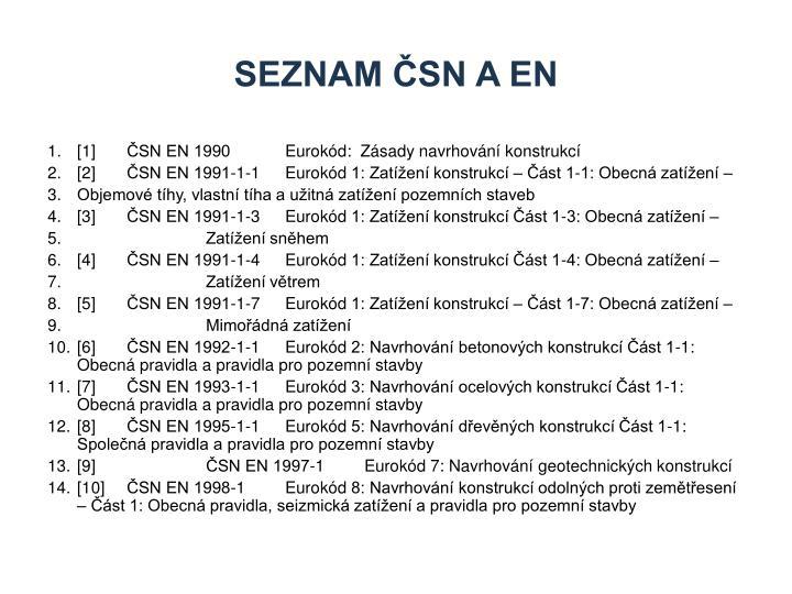 Seznam ČSN A en