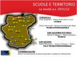 scuole e territorio le novit a s 2011 12