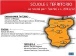scuole e territorio le novit per i tecnici a s 2011 12