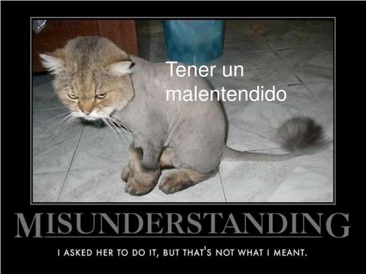 Tener un malentendido