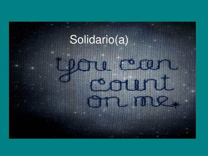 Solidario(a)