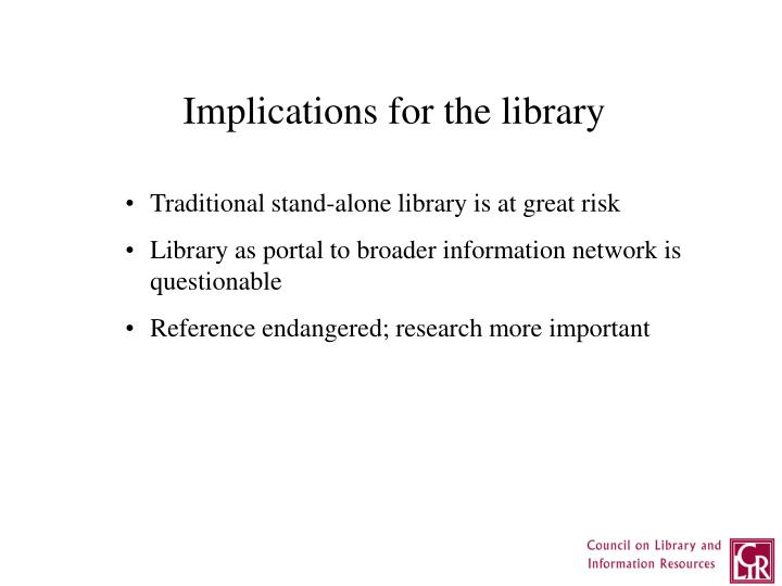 Implications for the library