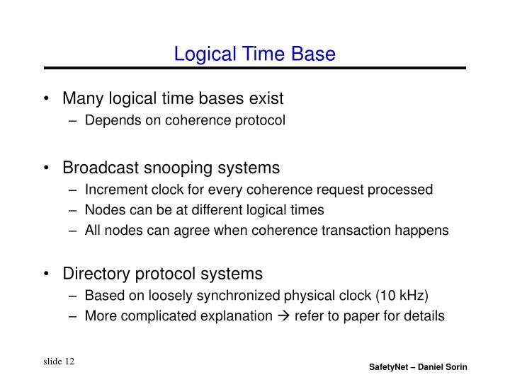 Logical Time Base