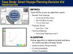 case study smart voyage planning decision aid prioritization
