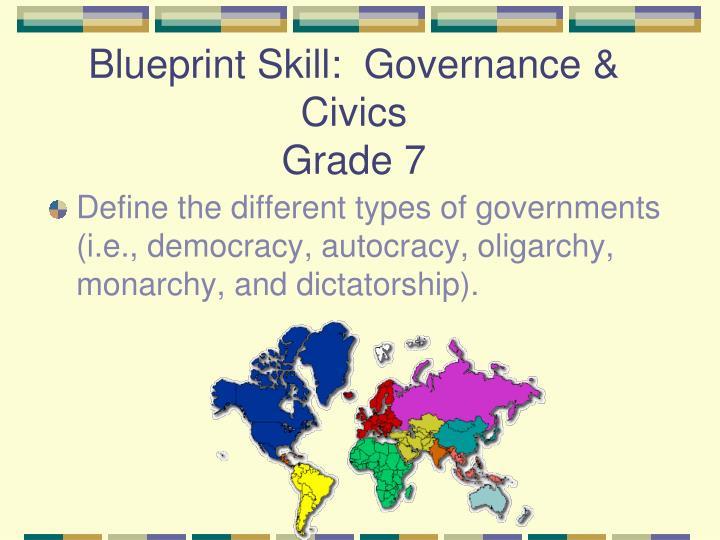 Blueprint Skill:  Governance & Civics