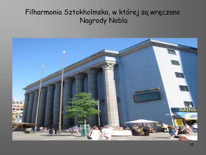 Filharmonia Sztokholmska, w której są wręczane