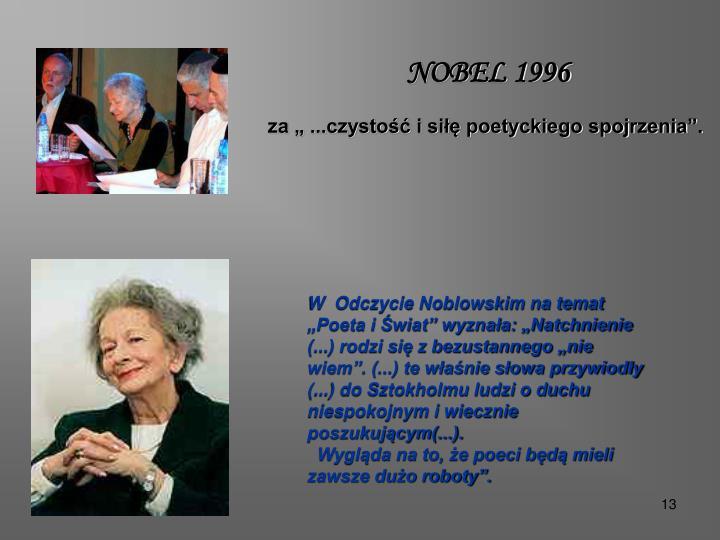 NOBEL 1996
