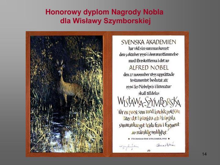 Honorowy dyplom Nagrody Nobla