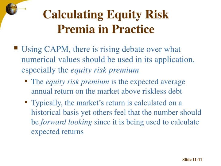 Calculating Equity Risk