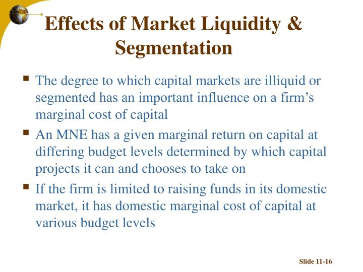 Effects of Market Liquidity & Segmentation