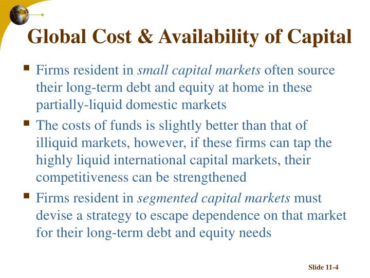 Global Cost & Availability of Capital